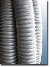 Труба гофрированная для дренажа, канализации